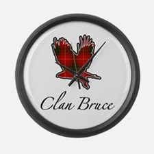 Clan Bruce Eagle Large Wall Clock