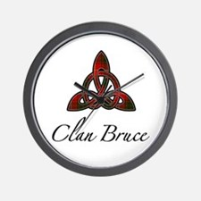 Clan Bruce Celtic Knot Wall Clock