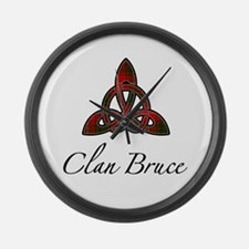 Clan Bruce Celtic Knot Large Wall Clock