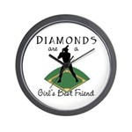 Diamonds - Girl's Best Friend Wall Clock
