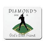 Diamonds - Girl's Best Friend Mousepad