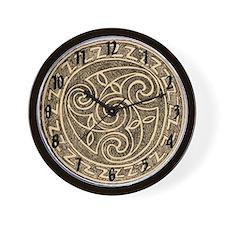 Ancient Bronze Wall Clock