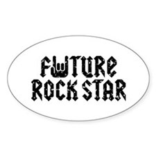 Future Rock Star Oval Decal