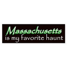 Massachusetts Haunt Bumper Sticker - Green