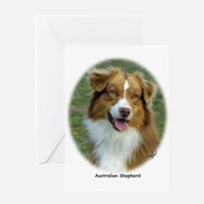 Australian Shepherd 9K5D-02 Greeting Card
