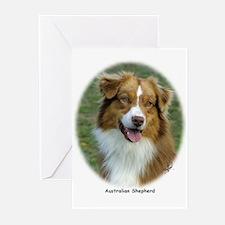 Australian Shepherd 9K5D-02 Greeting Cards (Pk of