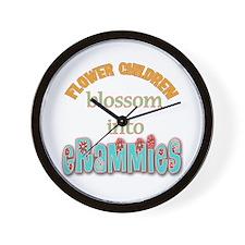 Grammie Flower Child Wall Clock