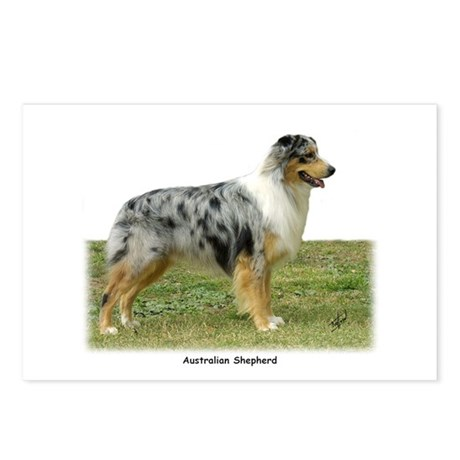 Australian Shepherd 9K7D-20 Postcards (Package of