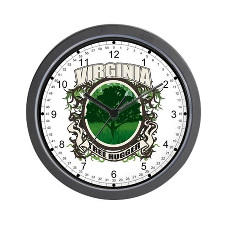 Tree Hugger Virginia Wall Clock