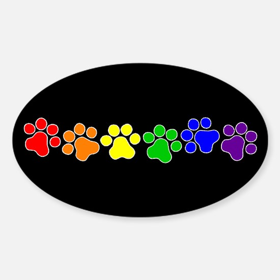 Paw Print Pride Oval Decal