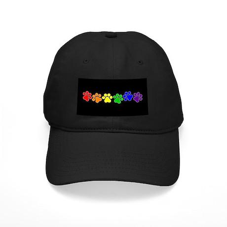 Paw Print Pride Black Cap