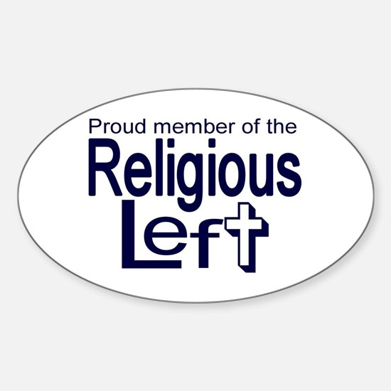 Oval Sticker - Proud Member of the Religious Le