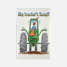 Sexy Tractor Rectangle Magnet