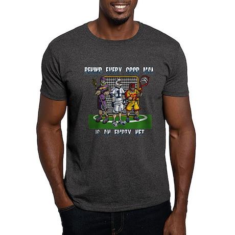 Lacrosse Players Empty Net Dark T-Shirt