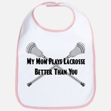 Lacrosse My Mom Plays Better Bib