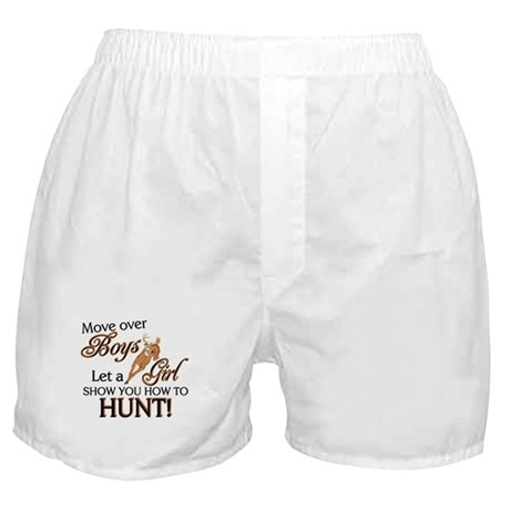 Let a Girl Show You How to Hunt Boxer Shorts