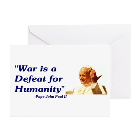 Greeting Cards (Pk of 10) - War is a defeat f