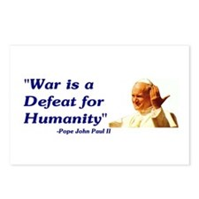 Postcards (Package of 8) - War is a defeat for hu