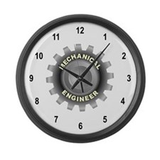 Mechanical Engineering Large Wall Clock