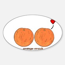 Orange Crush! Oval Decal