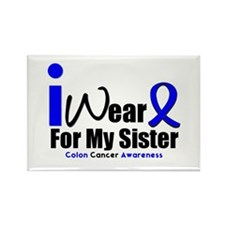 I Wear Blue For My Sister Rectangle Magnet