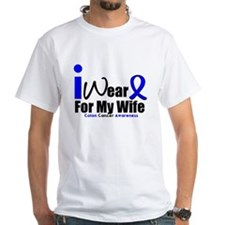 I Wear Blue For My Wife Shirt