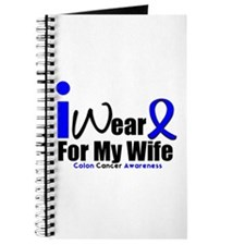 I Wear Blue For My Wife Journal