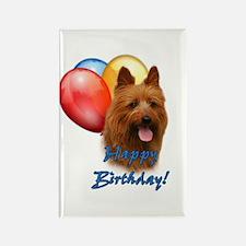 Aussie Terrier Balloon Rectangle Magnet (10 pack)