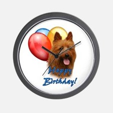 Aussie Terrier Balloon Wall Clock