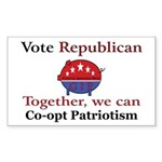 Patriotic Pig Rectangle Sticker 10 pk)