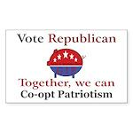 Patriotic Pig Rectangle Sticker