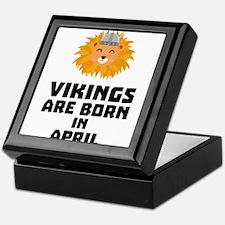 Vikings are born in April Cxa47 Keepsake Box