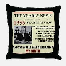born in 1956 birthday gift Throw Pillow