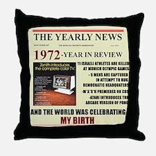born in 1972 birthday gift Throw Pillow