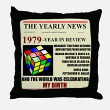 born in 1979 birthday gift Throw Pillow