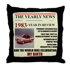 born in 1983 birthday gift Throw Pillow