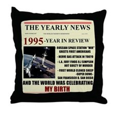 born in 1995 birthday gift Throw Pillow