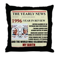 born in 1996 birthday gift Throw Pillow