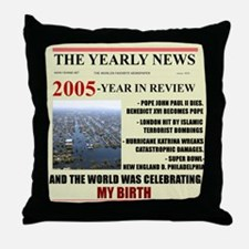 born in 2005 birthday gift Throw Pillow