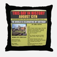 august 13th-birthday Throw Pillow