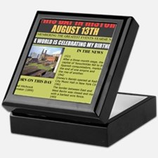 august 13th-birthday Keepsake Box