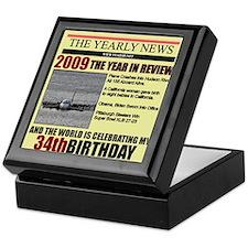 34 birthday Keepsake Box