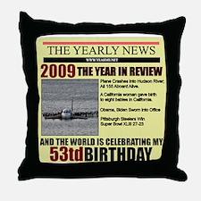 53 birthday Throw Pillow
