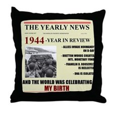 born in 1944 birthday gift Throw Pillow