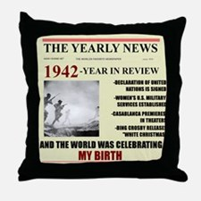 1942-birth Throw Pillow