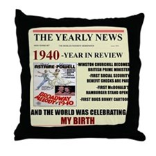 1940-birth Throw Pillow