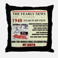 1940-birth Throw Pillow