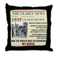 born in 1935 birthday gift Throw Pillow