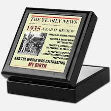 born in 1935 birthday gift Keepsake Box