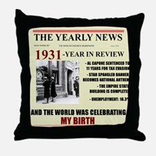 born in 1931 birthday gift Throw Pillow